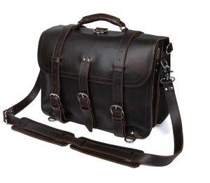 louco cavalo bolsa retro bolsa de couro assustador é saco de bagagem saco de super-homem de couro fresco do homem de couro Designer-Real