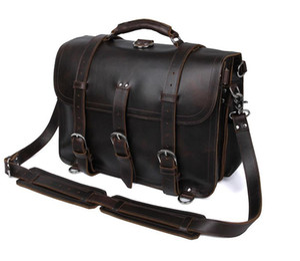 Designer-Real Tasche super cool Leder Mann Tasche retro verrückt Pferd Lederhandtasche anmaßend Gepäcktasche Ledermann