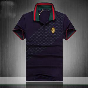 20SS الفاخر أوروبا باريس الرجال خليط T قميص رجالي أزياء المصممين T عادية القميص الرجال الملابس ميدوسا القطن المحملة البولو الفاخر