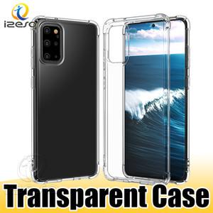 Ultra delgado de silicona suave caja del teléfono a prueba de golpes claro TPU casos para Samsung Galaxy S20 S10 Lite iPhone M31 11 Teléfono contraportada izeso