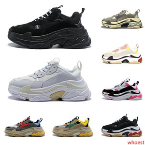 2020 triple s zapatos de diseño para hombres mujeres zapatillas de deporte vintage negro blanco Bred rosa 20fw lujo para hombre zapatillas grandes únicas zapatillas deportivas