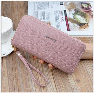 2020 12 colori Portafoglio donna zip lunga che grande capacità doppio pochette Portafoglio sacchetto del telefono mobile wallet litchi modello femminile di moda