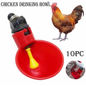 Vasos para beber de pollo de bebederos para pollos de codorniz pollo Waterer Tazón Coop alimentador automático de aves de corral Beber agua 10 tazas # 20