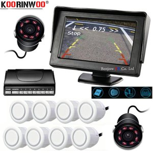 Koorinwoo Parktronic Car Parking Sensors 8 HD 800*480 Car Monitor Indicator Alarm Buzzer Front Form Rear View Camera Automobiles