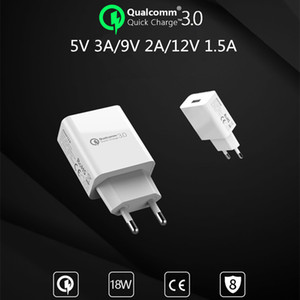 EU Wall USB 3.0 Quick Charger Fast Charger QC3.0 QC2.0 Adapter For iPhone XS 8 Samsung Xiaomi Mobile Phone Chargers