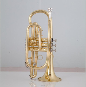 High Quality Bach Golden Bb Cornet trumpet brass International musical instrument with Case and Mouthpiece Musical instruments