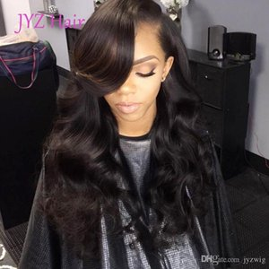 Fabulous Body Wave Lace Front Lace Wig With Adjustable Strands Virgin Malaysian Peruvian Human Hair Wavy Wigs Density 130% DHL Free Shipping