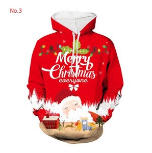 2020 Christmas Mens Designer Hoodies Winter Brand Hoodies For Mens Sweatshirts With 3D Patterns Casual Mens Tops Clothing S-4XL 9 Styles