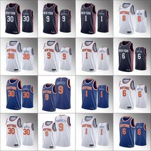 Men New YorkKnicksBasketball Jersey Julius Randle R.J. Barrett Bobby Portis Elfrid PaytonNBA 2019-20 Jerseys