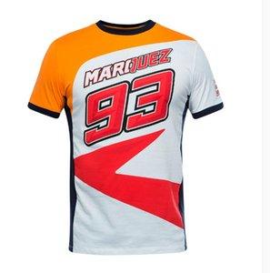 Freies Verschiffen 2019 Moto GP-Rennen Repsol Weiß Orange Lässiges T-Shirt Motobike Motorradrennen Sport ATV BIKE Männer-T-Shirt