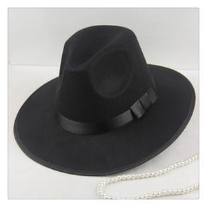 Cappello Fedora in feltro di lana Cappello classico da uomo Fedoras Jazz Cappello a tesa larga Cappelli moda Vogue Cappelli multicolore