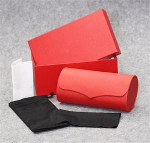 scatola dura occhiali da sole rossi di CA di marca caso gli occhiali rossi occhiali sacchetto di tela di istruzioni pacchetto di manuali di trasporto libero