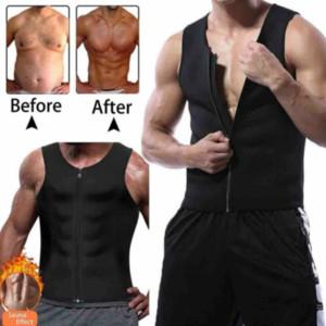 Gym Hommes néoprène Sauna Gilet Sauna Corps Ultra Sweat shirt Shaper Minceur réservoir Fitness Anti-statique