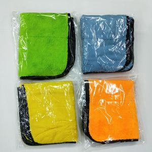 Cuidado Pulido Lavado de coches toallas de felpa de microfibra Lavado toalla de sequía fuerte gruesa felpa de poliéster de fibra de coches paño de limpieza (al por menor)