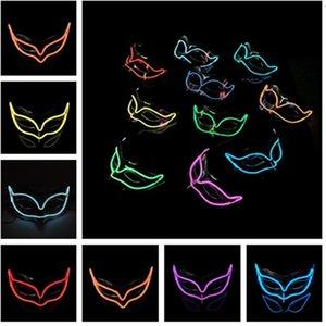 Festival Halloween masks Fox Mask EL wire Masks LED Glowing Party DJ dance Carnival Masks party maskT5I00