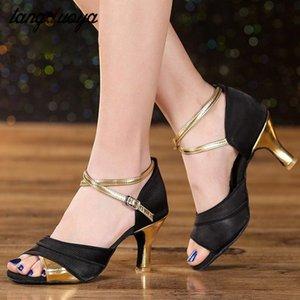 tangduoya kadın Latin dans ayakkabıları profesyonel 5 cm / 7cm yüksek topuklu dans ayakkabıları GB salsa tango bayanlar 2020