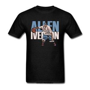 T shirt Uomo Le divertenti tshirt donne novità tshirt Streetball Allen Iverson manica corta nero divertente