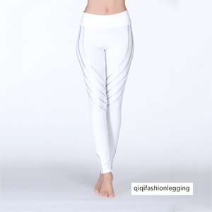 2019 Tight Height Waist Hips Dynamic Luminous Article Sports Fitness Yoga Pants Female