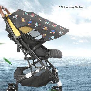 Verano cochecito de bebé Widen Parasol Toldo Imprimir paraguas del pabellón Cochecito Sun cubierta de la cortina de protección solar Techo