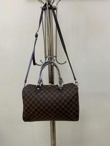 progettista di lusso della borsa della borsa di cuoio genuini veloce L fiori borse Boston totes di modo delle donne del progettista della borsa della borsa speedy