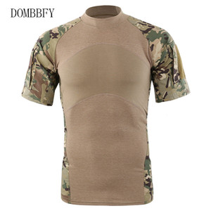 Av Kamp Yürüyüş Hızlı kurutma Erkekler Açık Taktik tişört Nefes ABD Ordusu Savaş tişört Tee Shirt