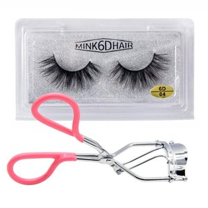 Makeup Tool 6D Mink False Eyelashes + Lashes Curler Clip Eyes Cosmetics Fake Eye Lash Thick & Lengthening Soft Hair Eyelash Kit