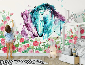 custom beautiful 3D wall murals flowers wallpapers for bed room living room Stereo 3 d wallpaper for walls background wall
