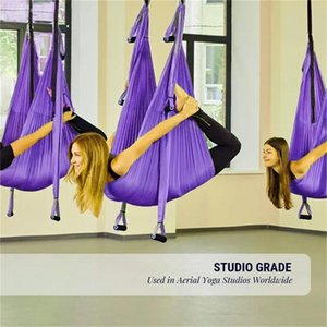 Full set Flying-Aerial Yoga Hammock Fabric Swing Latest Aerial Yoga Swing Set - Swing Sling Kit + Extension Straps Fitness