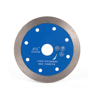 Porcelain Ceramic Tiles Cutting Disc 4.5 Inch D115mm Hot Press Sintered Diamond Saw Blades Whole Continuous Segment 10PCS