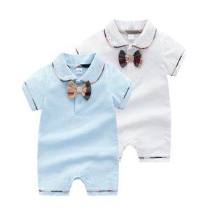 venda quente Meninos Meninas Romper rótulo Designer crianças de algodão macacões infantis Meninas Carta Algodão Romper das meninas do menino coverall roupa crianças