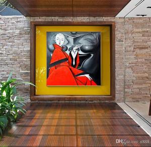 Soyut Resim Handpainted HD Baskılı Duvar Sanatı yağı Kel Woman, Ev Dekorasyonu Açık Tuval Çoklu Boyutu p146 200.313 Sigara boyama