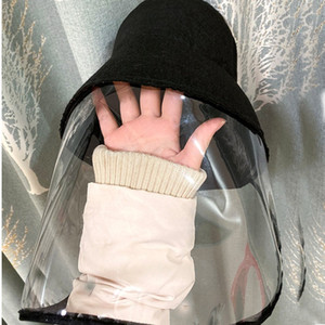 Sıcak Virüs Koruması Şapka Anti-tükürme Koruyucu Balıkçı Cap Açık Emniyet Savunma Tam Güneş-gölge Güvenlik Parti Şapkası T2C5200 Maske