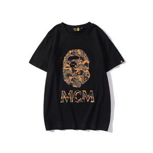 Camuflaje imprimir alrededor del cuello de la camiseta de los hombres casuales de manga corta de los hombres camisetas del diseñador de ropa blanca t Deporte Ocio Fleece guapos
