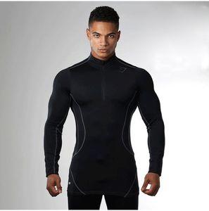 2019 gym New men's fashion Fitness Sports Wear, Running Basketball Training, High Elasticity gym Long sleeves