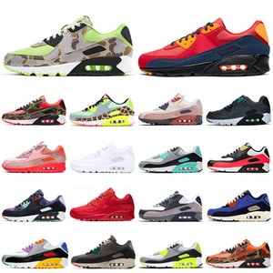 nike air max 90 airmax 90s pattini correnti uomini donne Triple Nero Bianco coccodrillo nero a infrarossi Neon Arancio Blu South Beach mens formatori Sport Sneakers 36-45