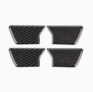 4PCS Carbon Fiber Inner Door Bowl Cover Trim Fit For Jeep Grand Cherokee 2014-2018