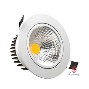 HOT LED DownLights Aluminum COB Spotlight Super Brightness indoor Recessed Shop Cabinet Energy Saving Dynasty Lighting Free Ship