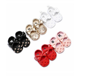 golden and white baby girl princess shoes fashion soft sole anti slip shoes infant toddler bowknot shoes