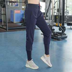 Sport jogging pants women elastic loose plus size high waist fitness leggings push up workout running tights long with pocket T200326