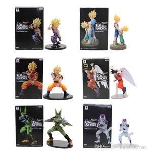 11-21cm Dragon Ball Z Vegeta Trunks Son Goku Gohan Cell Frieza PVC Action Figures DRAMATIC SHOWCASE Model Toy Doll Figuras