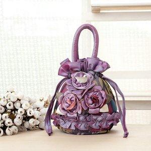 Lace coulisse Canvas Bag sacchetto del telefono mobile multi colori Designer-Moda Ladies Handbag Totes donne libere di trasporto