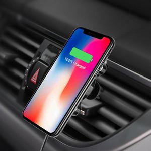 Mounts Air Vent magenet sans fil 2 en 1 chargeur de voiture Support de téléphone intelligent Capteur 10W Qi Chargeur rapide pour iPhone XR Samsung S10 huawei