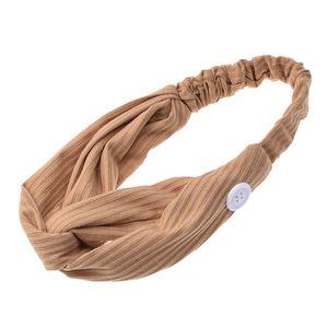 Moda de la yoga botón Sport Hairband del multicolor de punto de oído Protect respirador diadema Kid aptitud Hairbands Adultos Accesorios para el cabello 1 8fb E19