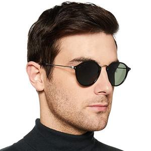 2447 Unisex Occhiali da sole rotondi delle donne del progettista di marca della signora UV400 Retro Sunglass di guida Specchio Uomini femminile Sunglass