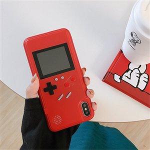 Цветной ЖК-экран Handheld Game Player телефон чехол для iPhone X XR Xs Max Защитные рукава Обложка Coque для iPhone 7 8 6 6s Plus игровой консоли