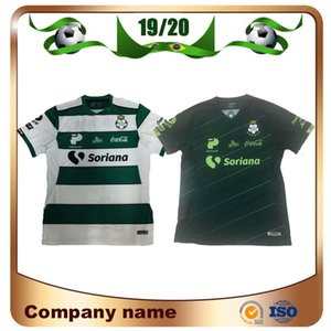 19/20 Clube Santos Laguna Camisas De Futebol 2019 Santos Laguna Casa branca Mexicana Futebol Clube Camisa De Futebol Fora verde uniforme de futebol Venda