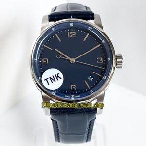 TNK Top-versão do código 11,59 15210BC.OO.A321CR.01 Dial Azul Cal.4302 caixa de aço automática 28800vph Mens Watch CNC Relógios desenhista do couro