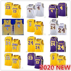 2020 Yeni NCAA nbspKobenbspBryant 8. 24 Alex 4 Caruso Los Angeles nbspLakers Lebron 23 James Anthony 3 Davis basketbol formaları S-2XL