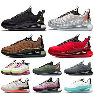2020 stock x nike air max mx 720-818 حذاء رجالي رياضي فاخر أسود ماغما ميتاليك فضي توتال أورانج جامعة حذاء تنس أحمر رياضي