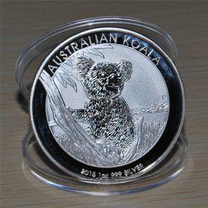 Бесплатная доставка 20 шт. / Лот, новый - ELIZABETH II 1 доллар Серебряная монета, 2015 Австралийская серебряная монета коала